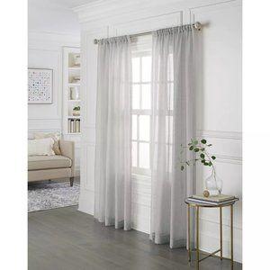Sheer Linen Curtain Panels 84x54 - Threshold